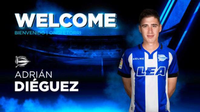 Adrián Diéguez (21), nuevo fichaje del Deportivo Alavés.