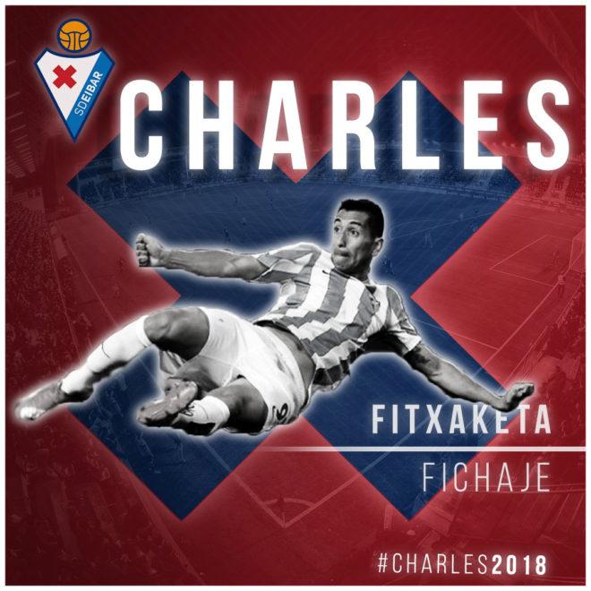 Charles (33), nuevo jugador del Eibar.