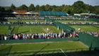 Perspectiva de las pistas de Wimbledon