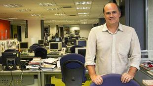 Fernando Gómez en la redacción de MARCA Valencia.