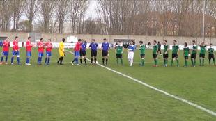 El SC Uxama, antes de que comenzase el partido ante el Villamuriel.