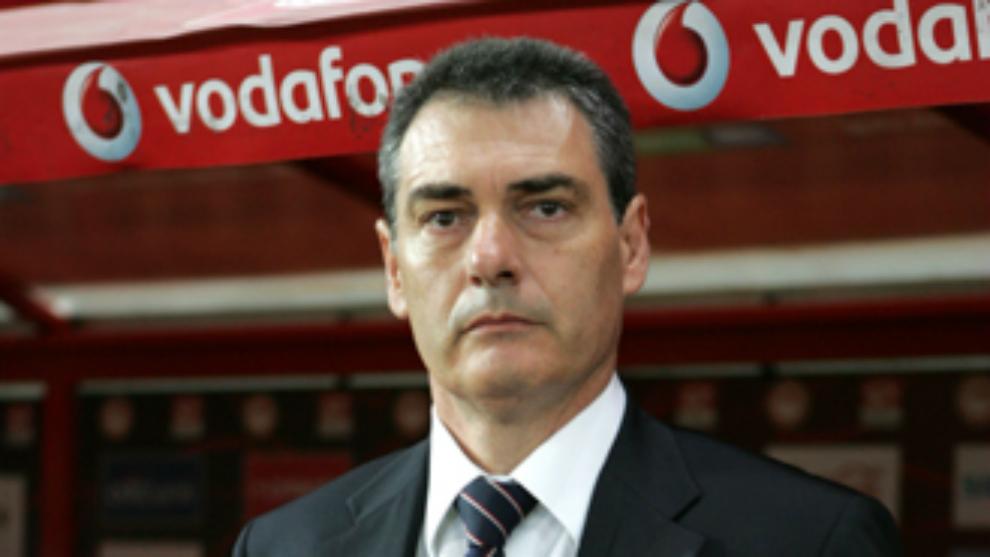 Pep Segura, cuando entrenaba a Olympiakos.