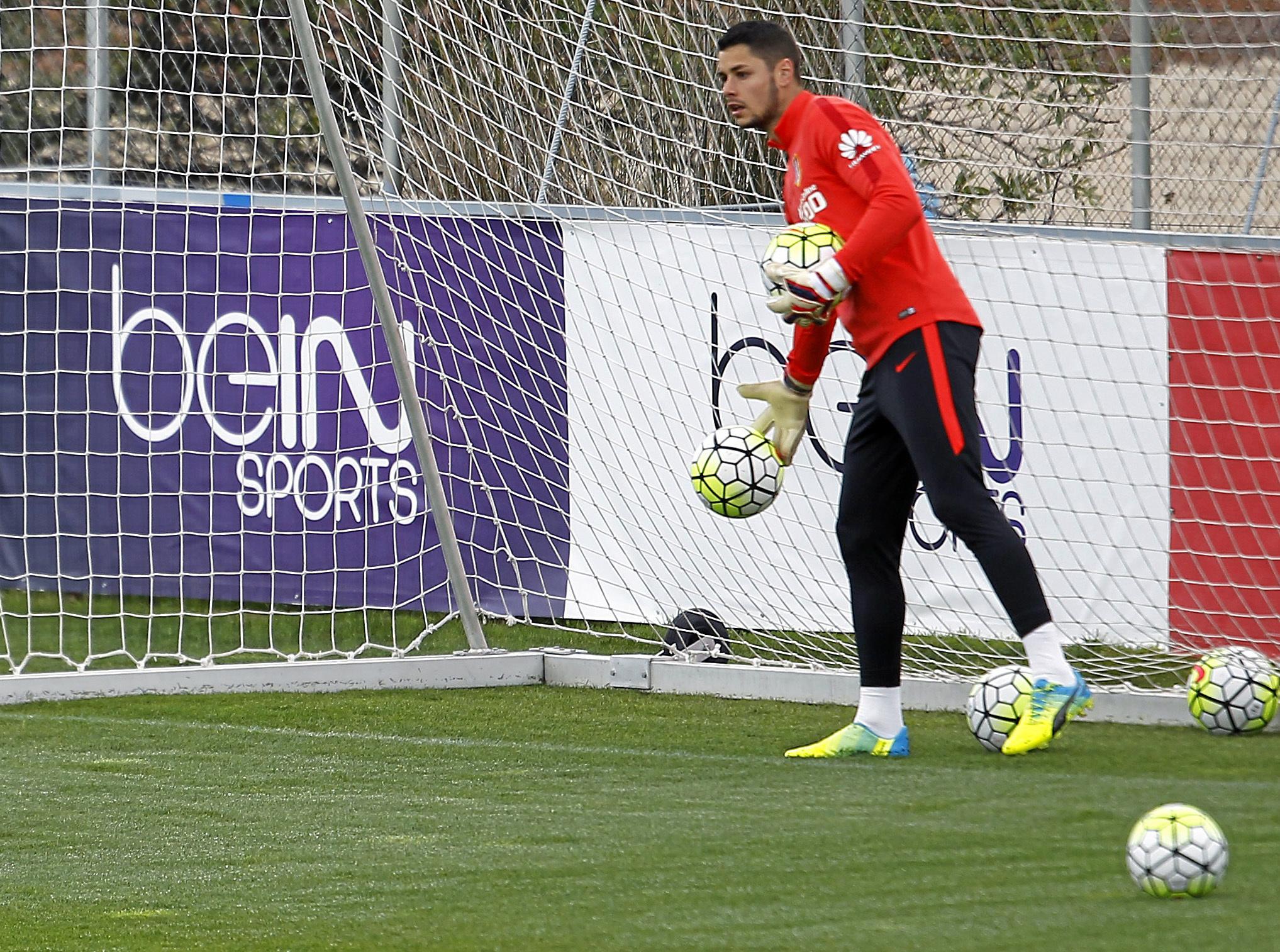 Barragán (24), durante una sesión de entrenamiento.