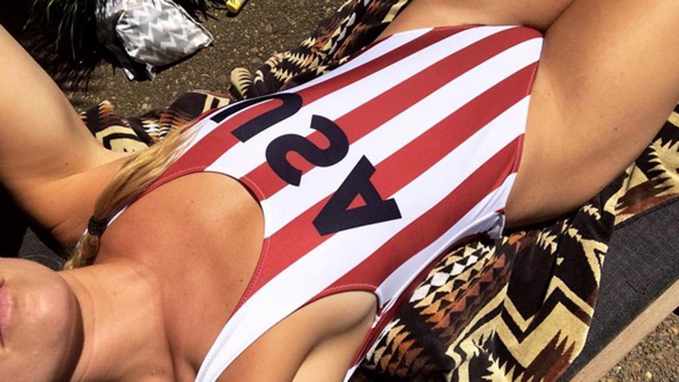 Patriótico posado de Lindsey Vonn por el 4 de julio, Día de la...
