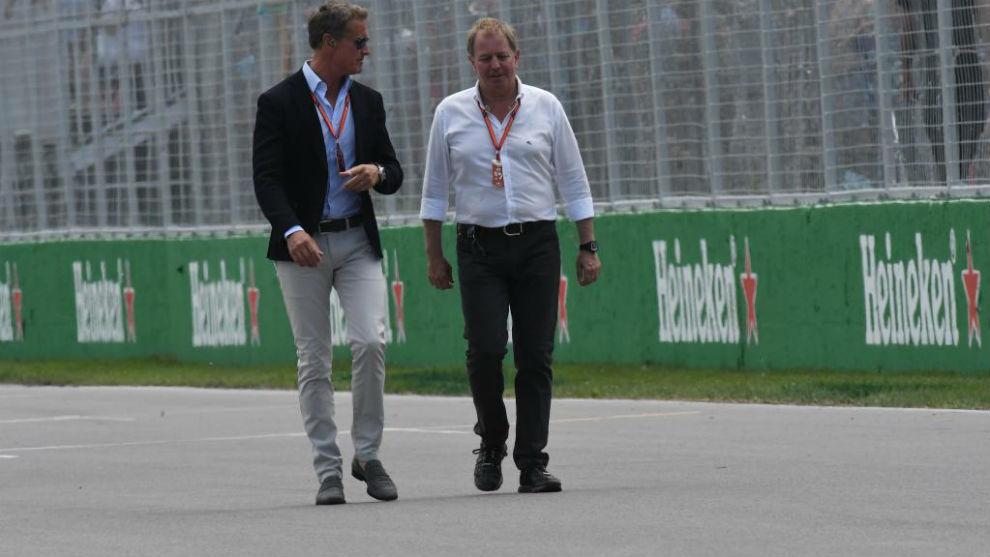 Martin Brundle (izquierda) en el pasado GP de Canadá