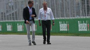 Martin Brundle (izquierda) en el pasado GP de Canad�