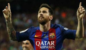 Leo Messi durante un partido de la temporada pasada.