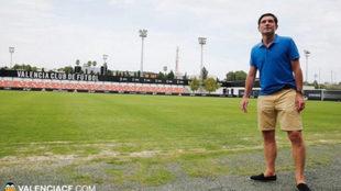 Marcelino en las instalaciones de Paterna.