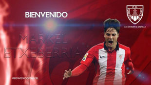 Markel Exteberria, nuevo jugador del Numancia.