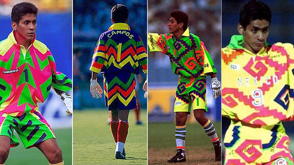 Diferentes estilos que usaba Jorge Campos en México.