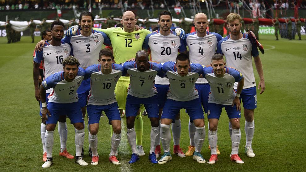 La selección estadounidense, previo al partido ante México