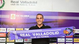Nacho (28), en su presentación con el Real Valladolid.