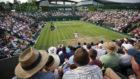 Vista de una pista de Wimbledon