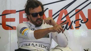 Fernando Alonso, en el circuito de Spielberg