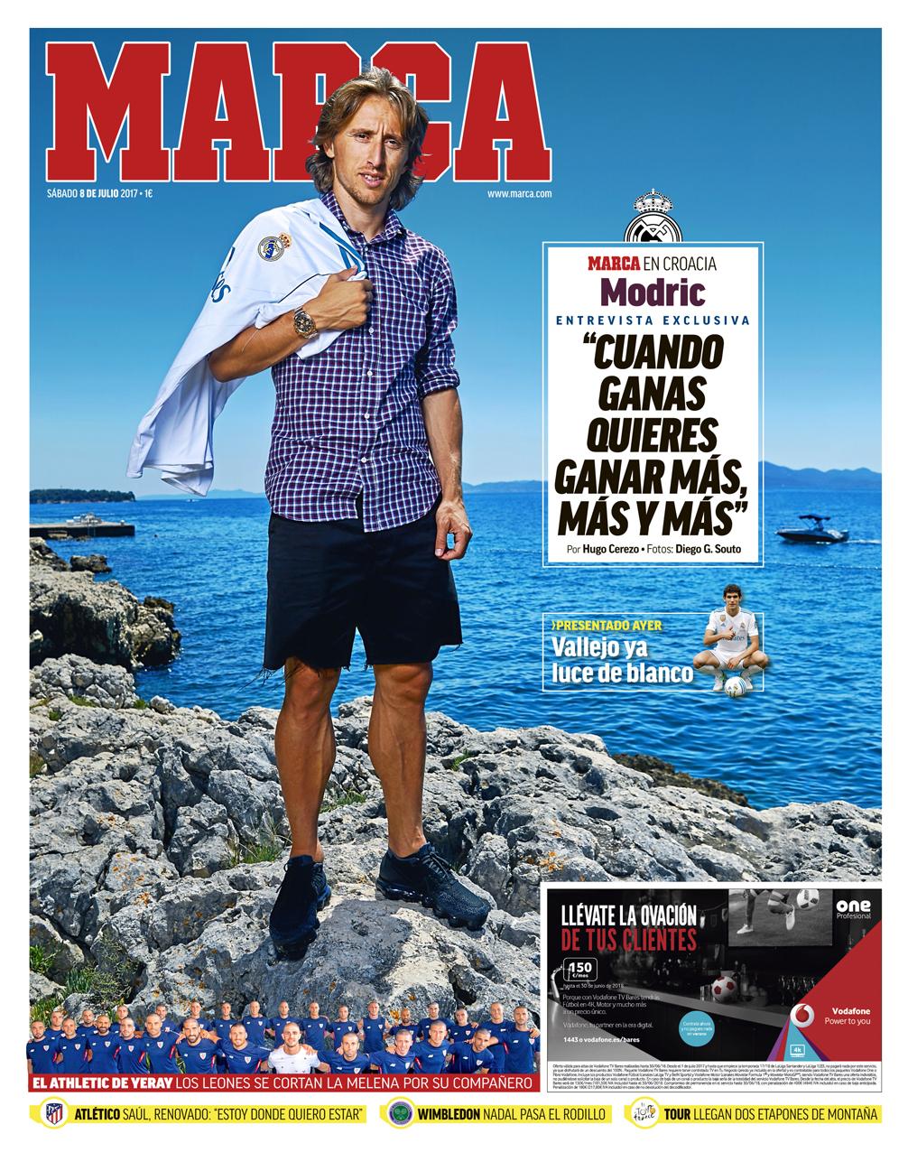 """Modric: """"Si sales del Madrid, sólo vas para abajo"""""""