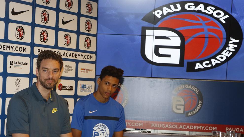Pau Gasol en la presentación de su campus.