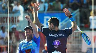 Maxi Sánchez y Mati Díaz  celebran una victoria en el WPT en Mijas.