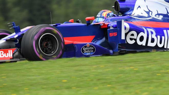 Sainz pilota su Toro Rosso en el Red Bull Ring.