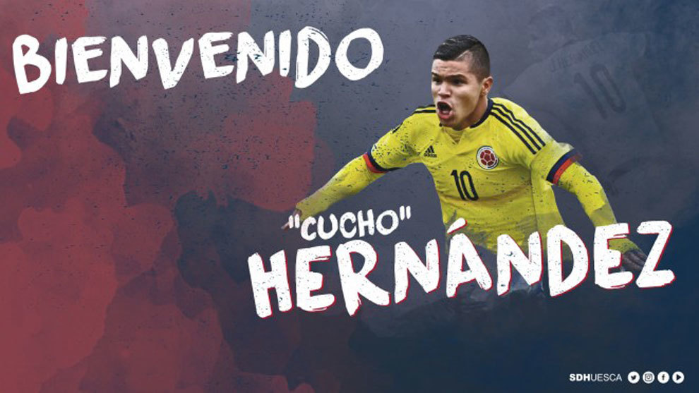 El Huesca dio la bienvenida al jugador colombiano