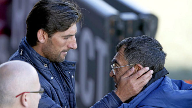 Angulo con Pepe de los Santos en Paterna.