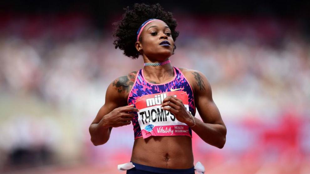 la velocista jamaicana Elaine Thompson.