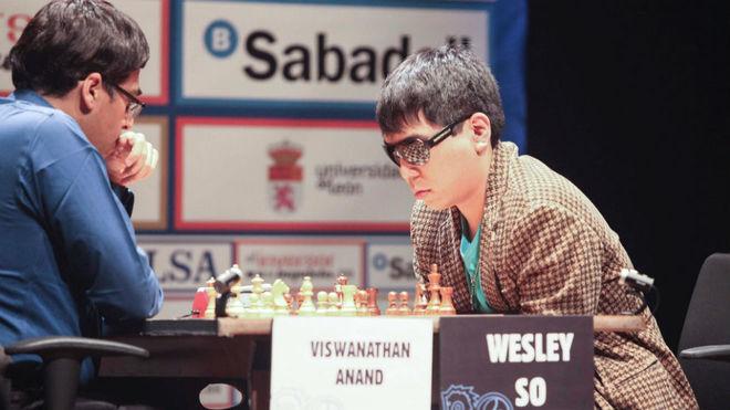 So y Anand, durante la final.