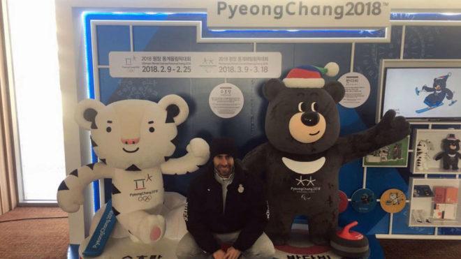 Ander Mirambell, en PyeongChang, la sede de los Juegos de 2018.