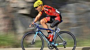 Juanjo Méndez en plena competición.