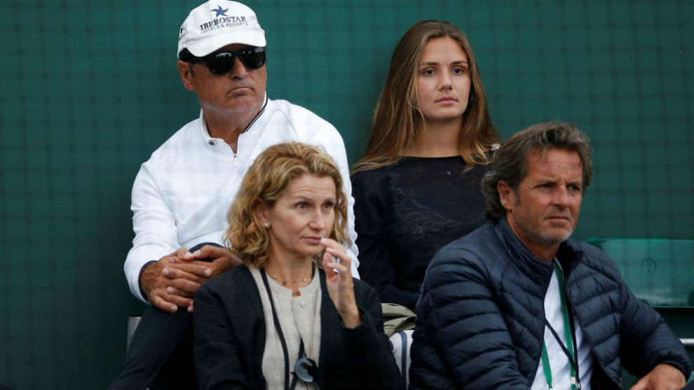 Toni Nadal, en Wimbledon