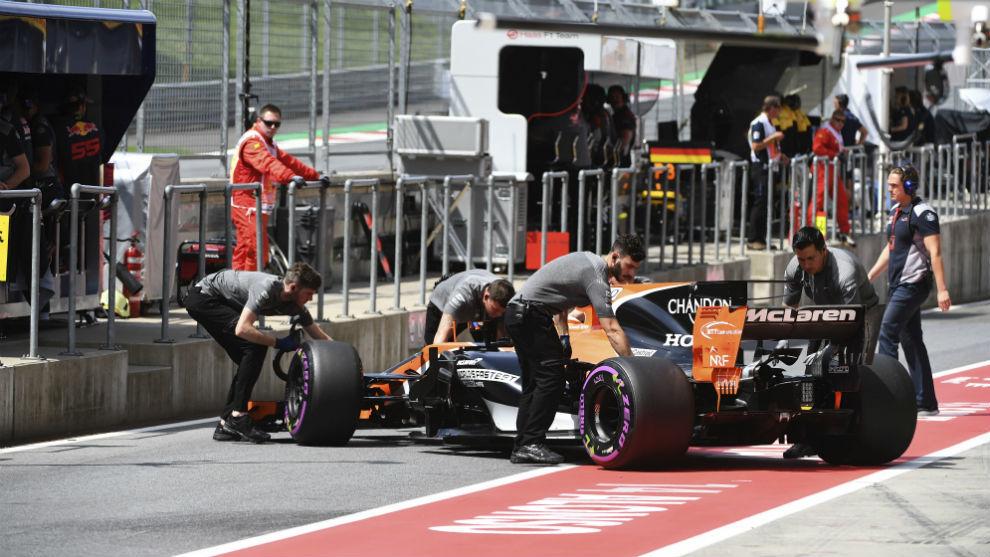 El McLaren de Alonso en el GP de Austrlia
