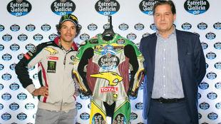 Franco Morbidelli, en la presentación del moto brasileño