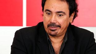 Hugo Sánchez, en una visita a la redacción de MARCA.
