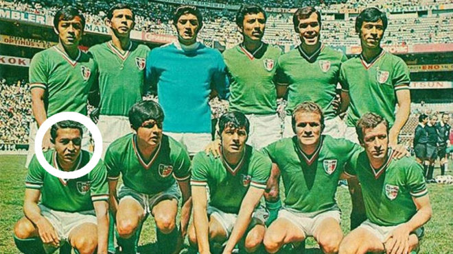 Isidoro Díaz en su época en la selección mexicana.