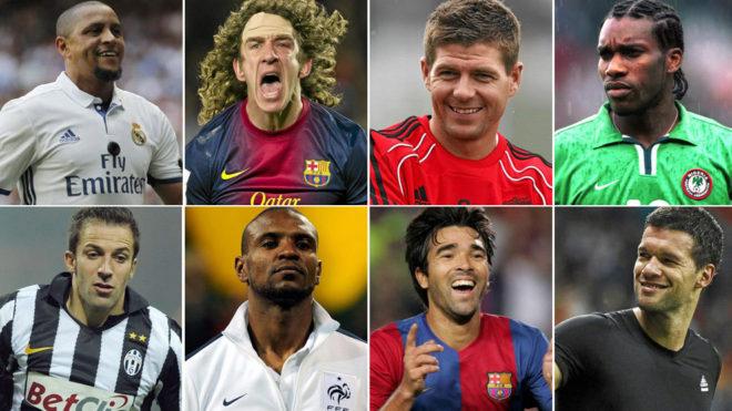 Roberto Carlos, Puyol, Gerrard y Del Piero comandan la nómina de...