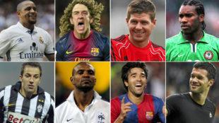 Roberto Carlos, Puyol, Gerrard y Del Piero comandan la n�mina de...