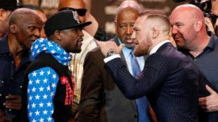 McGregor y Mayweather, en el cara a cara en el Staples.