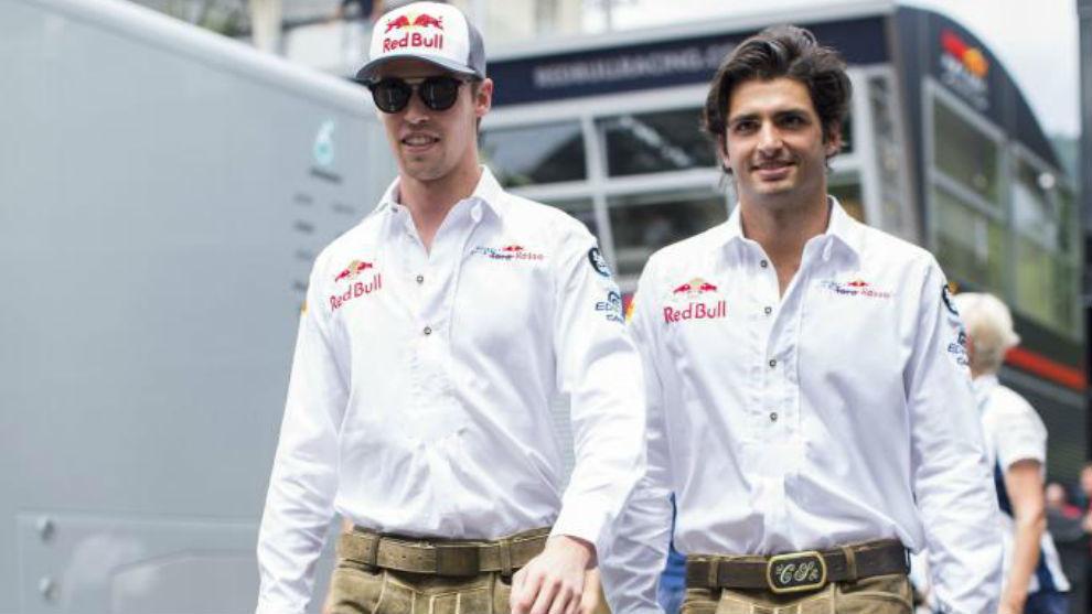 Sainz y Kvyat en el GP de Austria