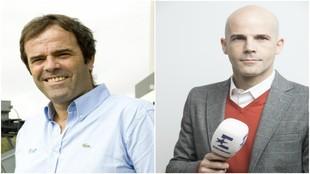 Paco Grande (TVE) y Rubén Fernández (Eurosport)
