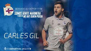 Carles Gil llega cedido al Deportivo de la Coru�a.