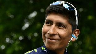 Nairo Quintana durante el Tour de Francia.