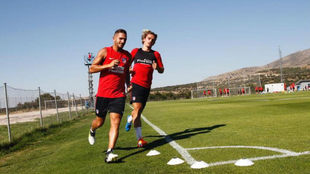 Koke y Griezmann en San Rafael esta misma tarde