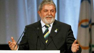 Lula, durante su exposición en Copenhague en 2009