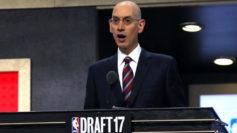 Adam Silver, comisionado de la NBA, durante la ceremonia del �ltimo...