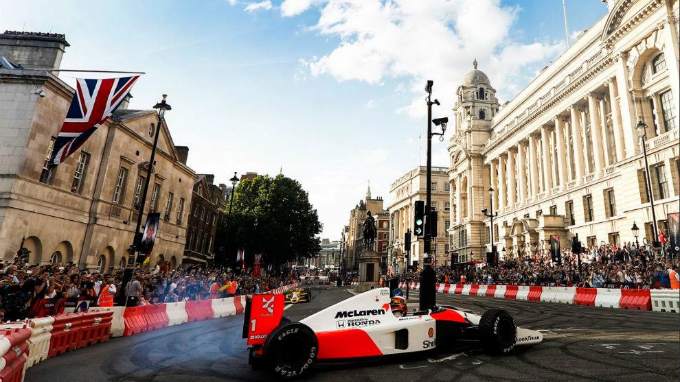 El circuito urbano para la exhibici�n de F1 en Londres