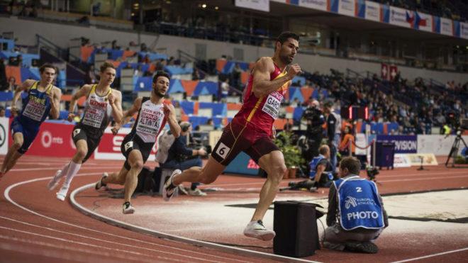 Samuel García, en el Europeo de pista cubierta de Belgrado.