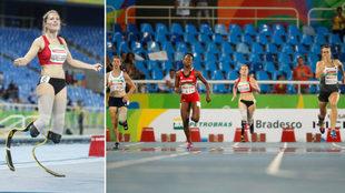 Sara Andrés en los Juegos Paralímpicos de Río.