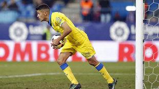 Mateo García, durante un partido de la pasada temporada