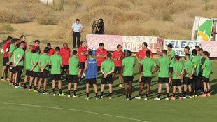 Primer entrenamiento del Córdoba en la temporada 2016-17