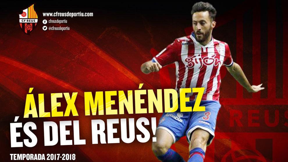 Álex Menéndez, nuevo jugador del Reus.