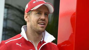 Sebastian Vettel, en el circuito de Silverstone.